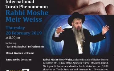 """Shabbos Secrets"" with Rabbi Moshe Meir Weiss"
