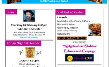 Shabbat UK at Kesher
