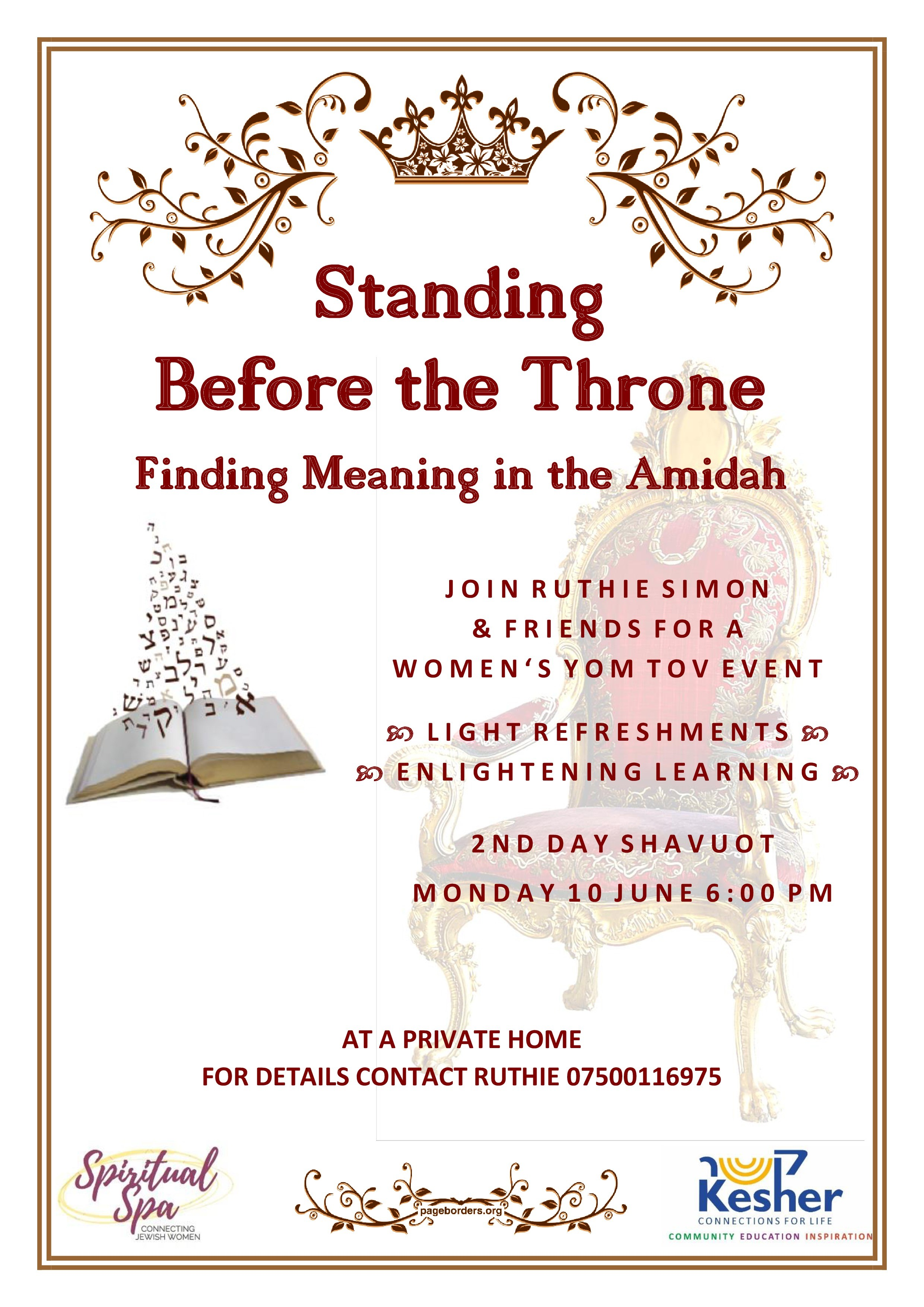 Women's Event – Standing Before the Throne: Finding Meaning in the